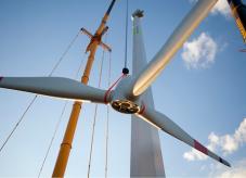 Montage-Gondel - Windenergie aus Holz
