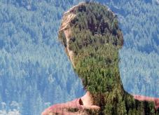 Ein Mensch und der Wald - Ziele im Wald